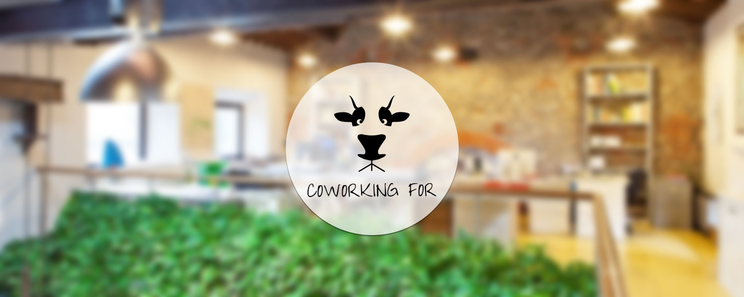 Coworking for - logo parallax
